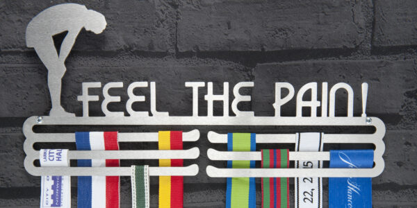 Feel the pain Medal Hanger and Medal Displays from The Runners Wall