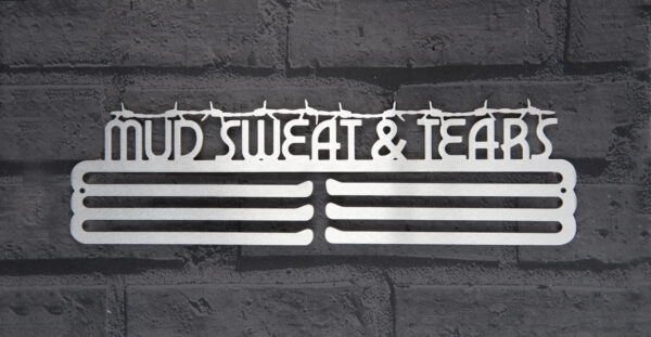 Mud Sweat and Tears Medal Hanger and Medal Displays from The Runners Wall