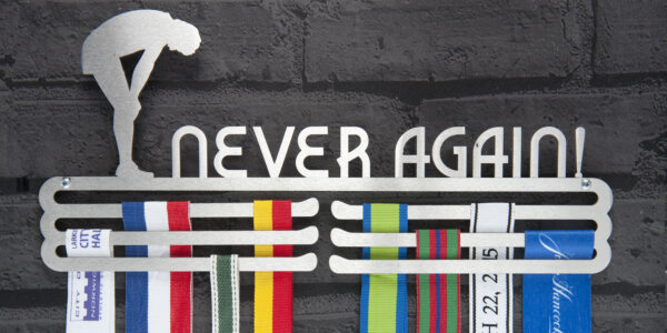 Never Again Medal Hanger and Medal Displays from The Runners Wall