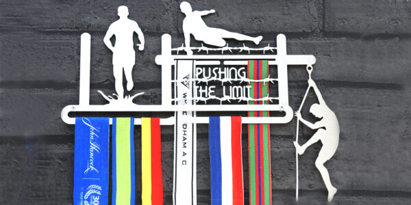 Pushing The Limits Medal Hanger and Medal Displays from The Runners Wall