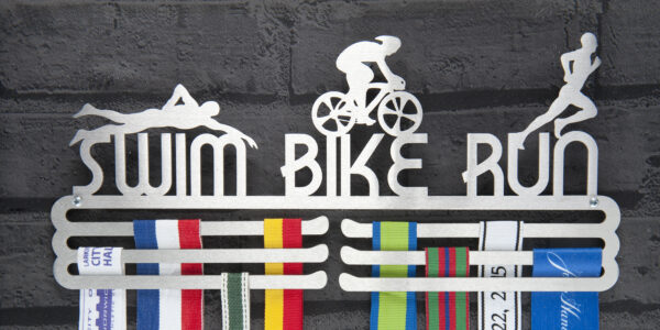 Swim Bike Run Medal Hanger and Medal Displays from The Runners Wall