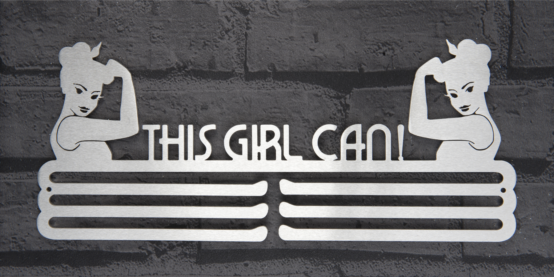 This Girl Can Stainless Steel Medal Hanger Display