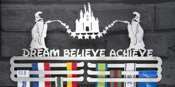 Dream Believe Achieve Medal Hanger and Medal Displays from The Runners Wall