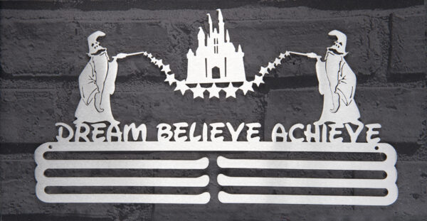 Dream - Believe - Achieve Medal Hanger and Medal Displays from The Runners Wall