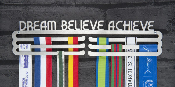 Dream - Believe - Achieve Medal Hanger and Medal Display from The Runners Wall