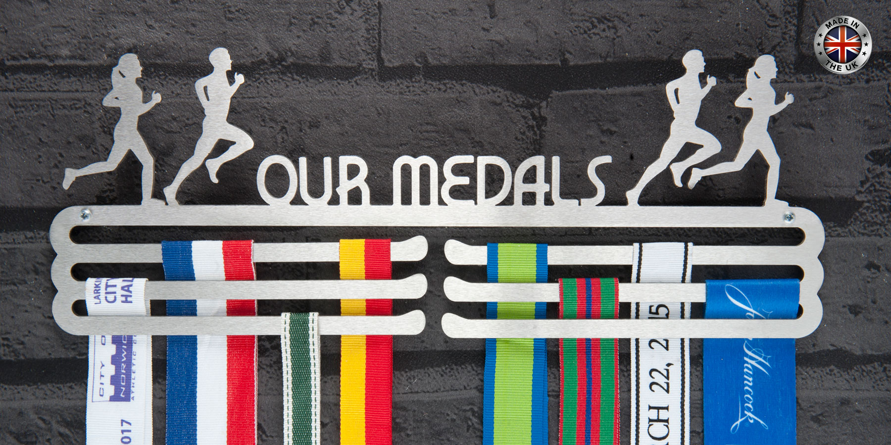 Medal hangers and medal displays from The Runners Wall