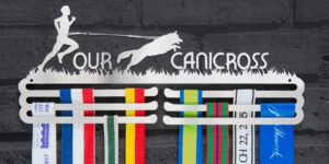 Male Canicross Medal Hanger and Medal Display from The Runners Wall