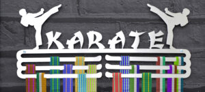karate medal display