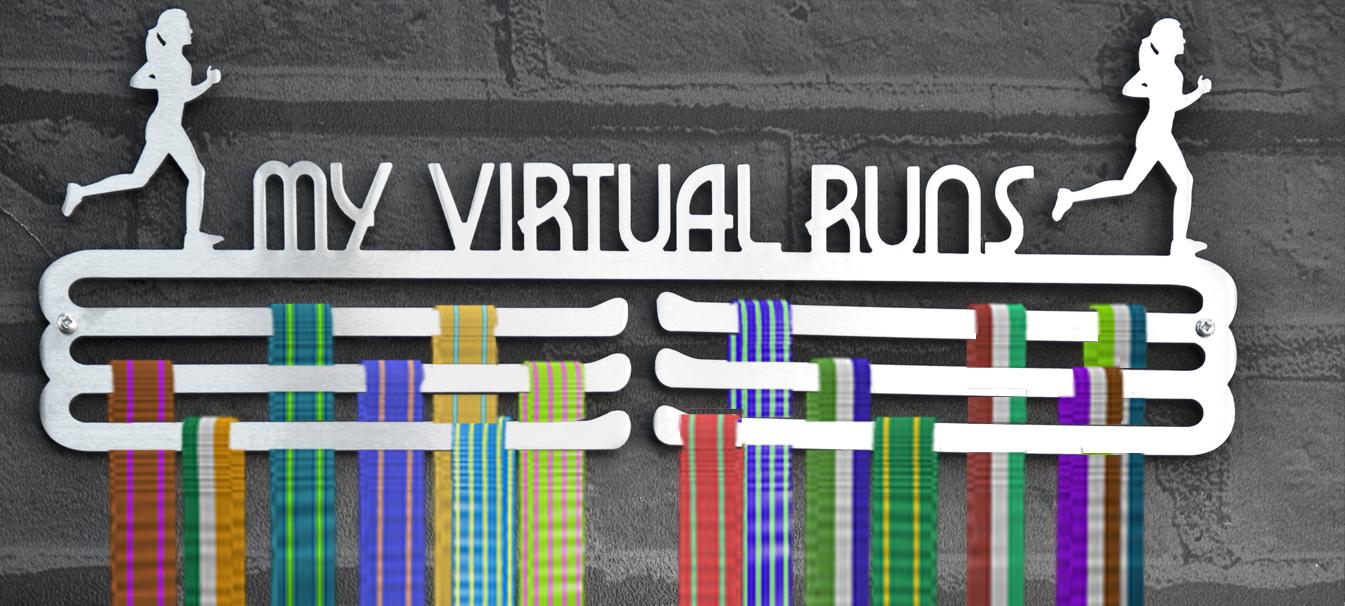 Running Medal Display Hanger Female Virtual Runner Medal Hangers And Medal Displays From The Runners Wall