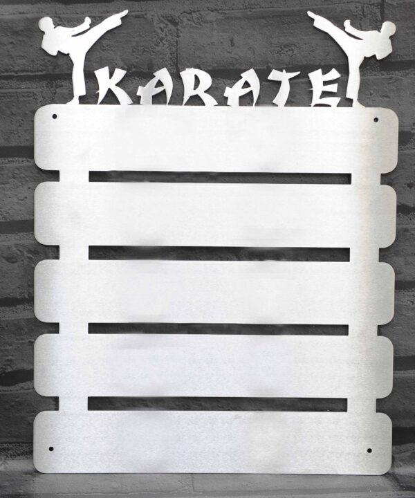 Empty karate belt display