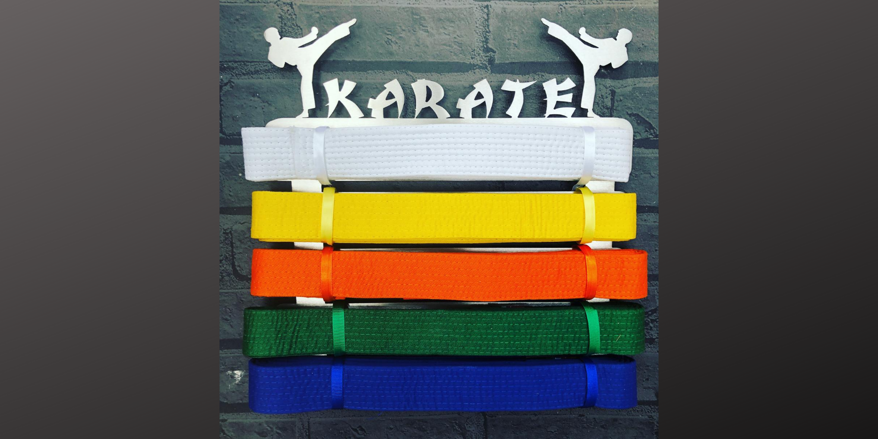 =Karate Belt Display from The Runners Wall